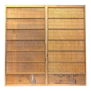 Japanese Sugi Yoshido Cedar Doors - a Pair For Sale