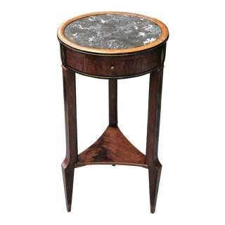 19th Century French Round Granite Top Small Side Table For Sale