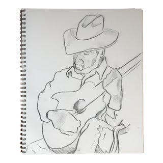 The Guitarist II Drawing For Sale