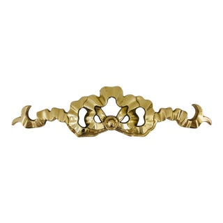 Vintage Brass Ribbon Wall Hanging For Sale