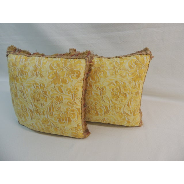 Fortuny Yellow & White Petite Pillows - A Pair - Image 3 of 4