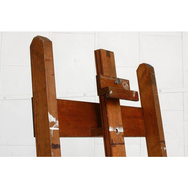 Mid-Century Modern Midcentury Wooden Adjustable Painters Art Studio Easel For Sale - Image 3 of 13