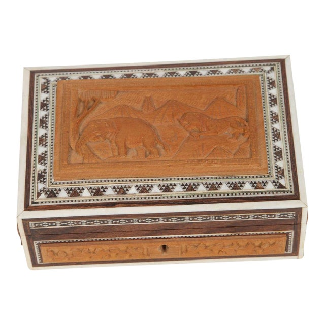 Anglo-Indian Vizagapatam Jewelry Inlaid Box For Sale