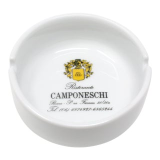 Vintage Ristorante Camponeschi Ceramic Ashtray For Sale