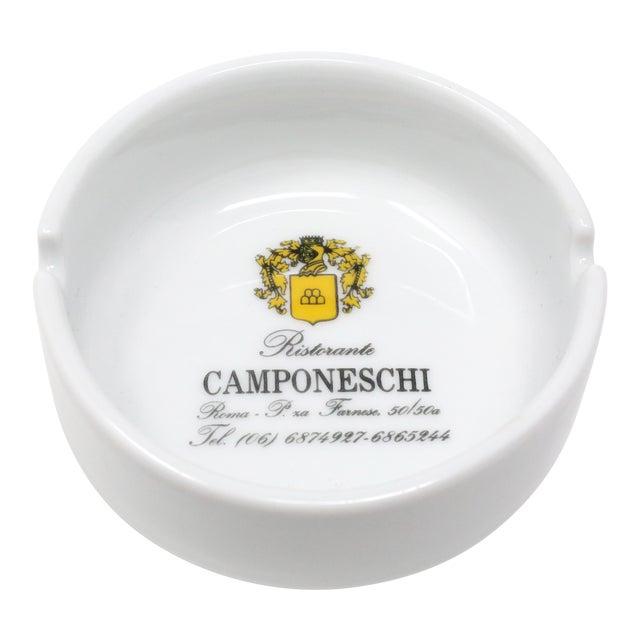 Vintage Ristorante Camponeschi Ceramic Ashtray For Sale