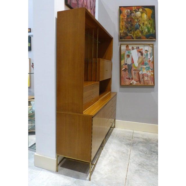 Brass Mid-Century Modern Paul McCobb for Calvin Furniture Breakfront For Sale - Image 7 of 13
