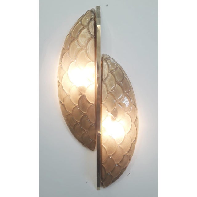 Italian Pair of Luna Oro Sconces / Flush Mounts by Fabio Ltd For Sale - Image 3 of 7
