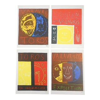 Vintage Mid 20th Century Picasso Lithographs-1957-Set of 4 For Sale
