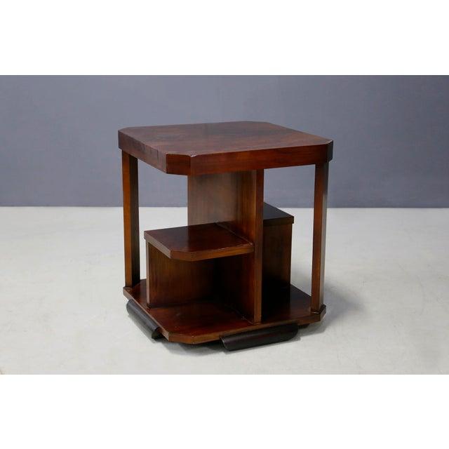 Art Decò Walnut Coffe Table For Sale - Image 6 of 8