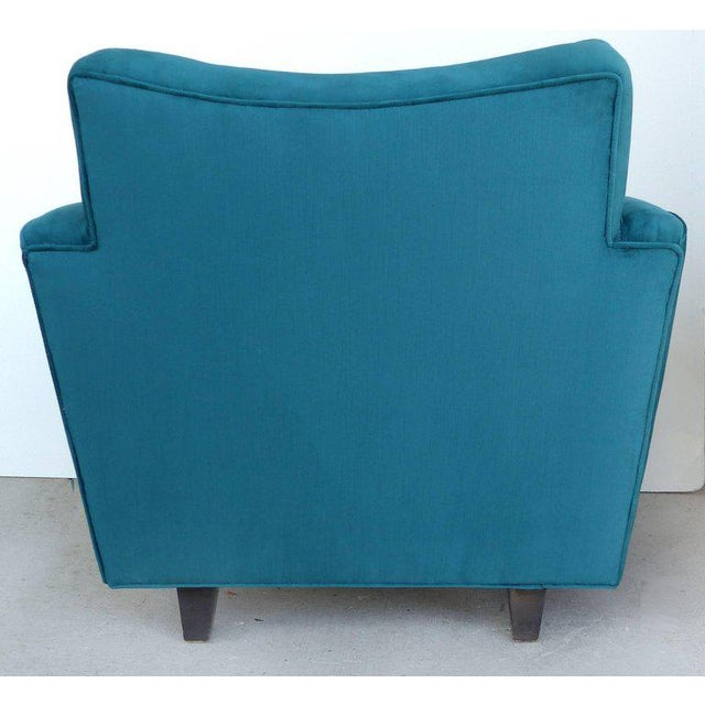 Thayer Coggin Club Chairs in Velvet - A Pair For Sale In Miami - Image 6 of 10