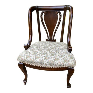 Louis XV Style French Mahogany Chair For Sale