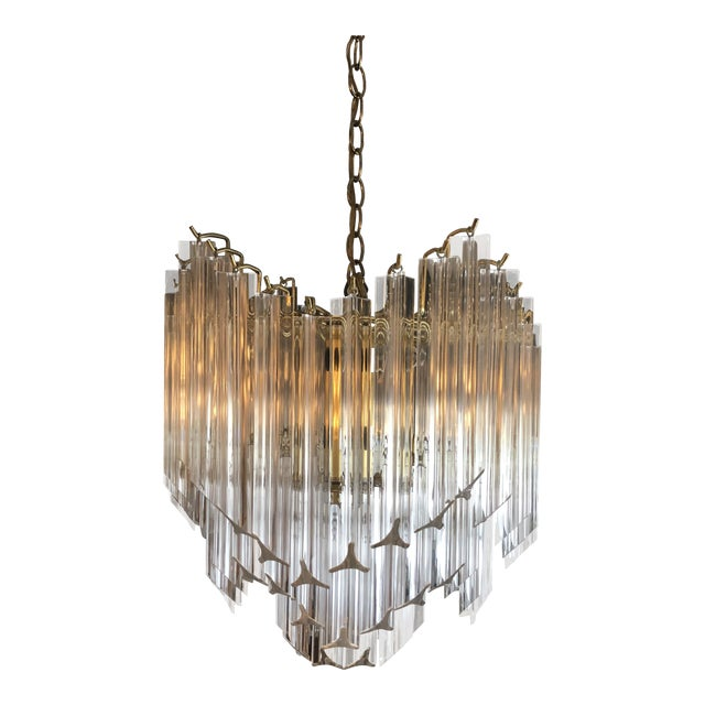 2fd05063d04d 1960s Vintage Hollywood Regency Style Lucite Chandelier For Sale