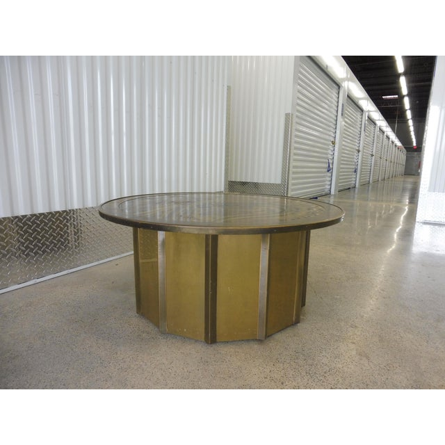 Mastercraft 1980's Vintage Mastercraft Bernhard Rohne Musical Note Coffee Table For Sale - Image 4 of 9
