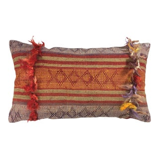 "Stripe Vintage Kilim Pillow | 12 X 20"" For Sale"