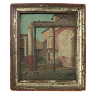 """Late 19th Century Vintage """"Capriccio"""" Oil Painting on Canvas by Onorato Carlandi For Sale"""