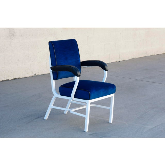 Mid-Century Modern General Fireproofing Aluminum Tanker Armchair, Refinished For Sale - Image 3 of 6