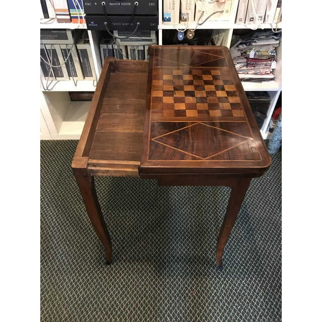 Brown 1700's Antique Inlaid Game Table For Sale - Image 8 of 10