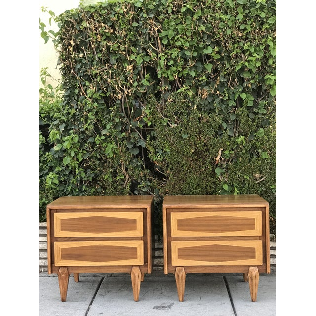 Pair of Mid Century Modern Nightstands by American of Martinsville For Sale - Image 12 of 12