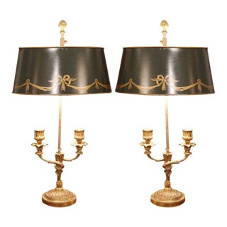 Small Louis XVI Style Bouillotte Lamps - A Pair