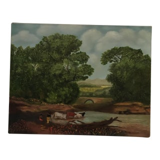 Pastoral Original Oil Painting For Sale