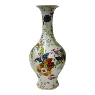 Tabacco Leaf Design Garniture Vase
