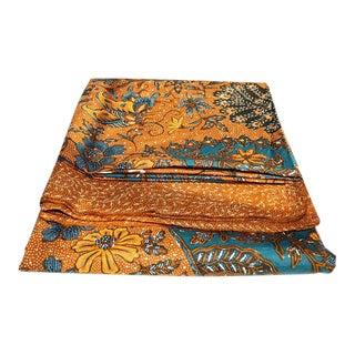 Vintage Batik Javanese Jungle Scene Textile