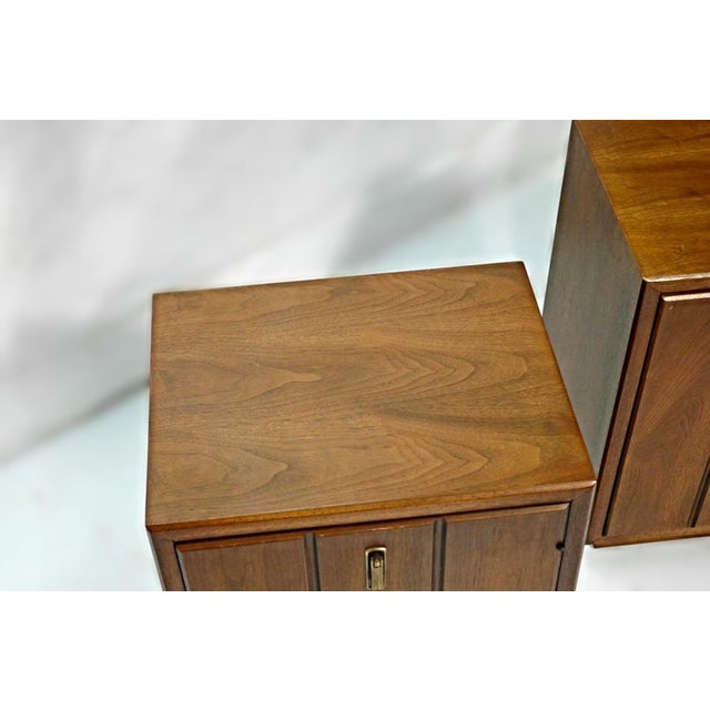 Mid-Century Modern Mid-Century Modern Walnut Nightstands - A Pair For Sale - Image 3 of 9