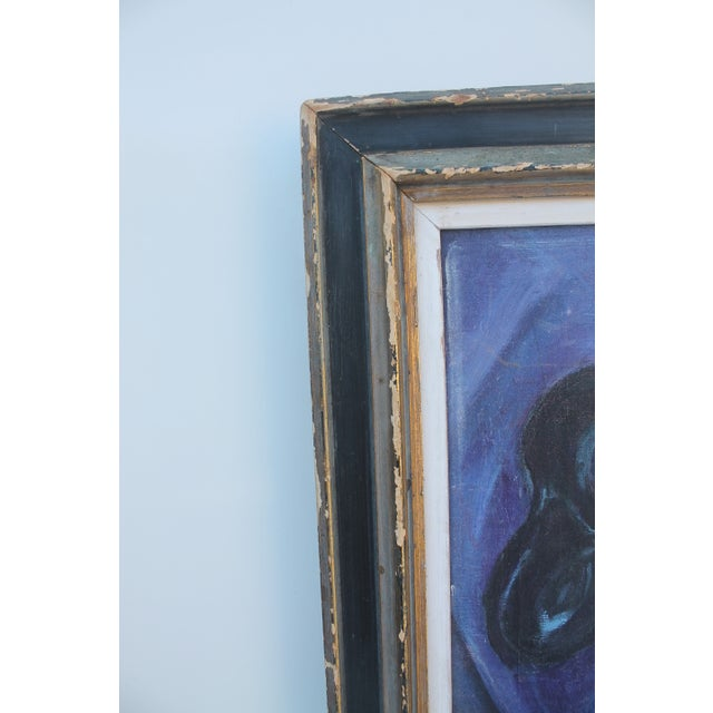 Mid-Century Masks Painting For Sale - Image 10 of 10