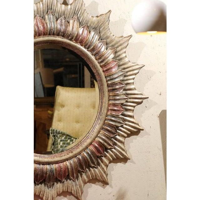 Large Polychrome Sunburst Mirror - Image 3 of 5