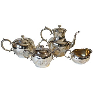 Antique Frank Whiting Mid-Century Sterling Silver Tea & Coffee Service - Set of 4 For Sale