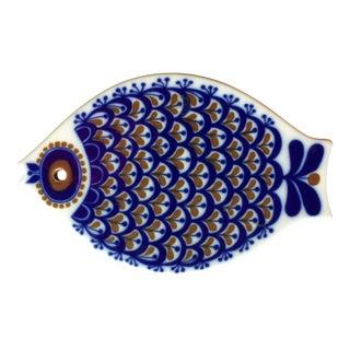 1960s Scandinavian Modern Porsgrund Norway Fish Trivet
