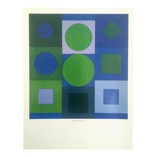 "Vintage Vasarely Op Art Mid-Century Modernist Lithograph Print ""Alphabet V.B."", 1960"