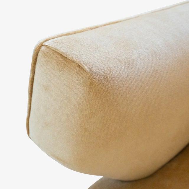 """Gold """"Model 37"""" Sofa in Camel Velvet by Jens Risom for Knoll For Sale - Image 8 of 9"""
