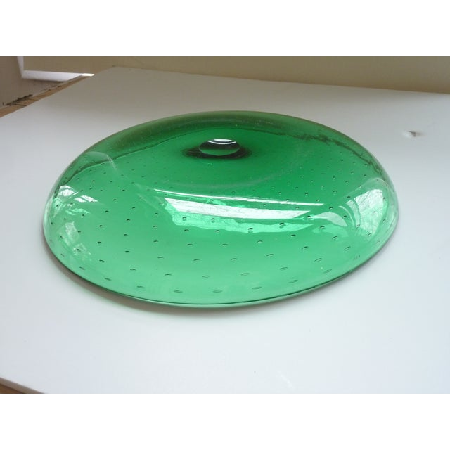 Green Blown Glass Bowl For Sale In Boston - Image 6 of 7