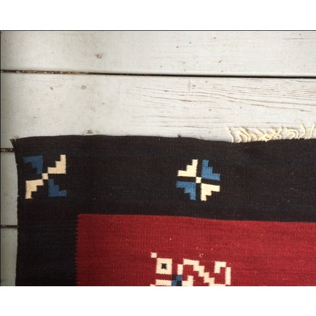 Vintage Southwest Saltilo Serape Rug - 4′10″ × 6′8 - Image 7 of 10