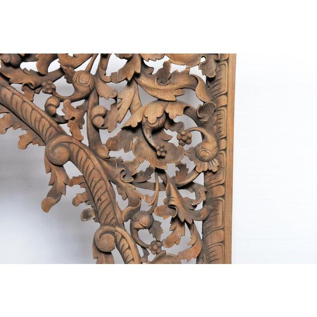 Wood Vintage Burmese Hand-Carved Arch For Sale - Image 7 of 13