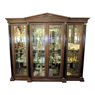 Biedermeier Grand Lighted China Display Cabinet For Sale