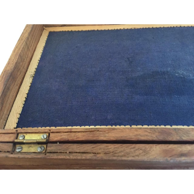 Early 20th Century Anglo Raj Hand-Carved Wooden Decorative Jewelry Box For Sale - Image 9 of 13