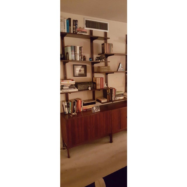 Danish Modern Rosewood Adjustable Shelves For Sale - Image 10 of 12