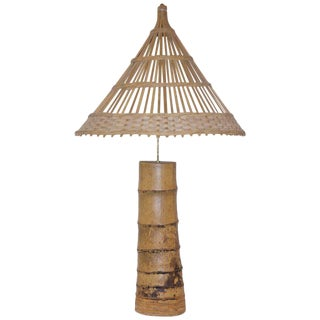 Antique designer bamboo table lamps decaso 1970s french bamboo table lamp aloadofball Image collections