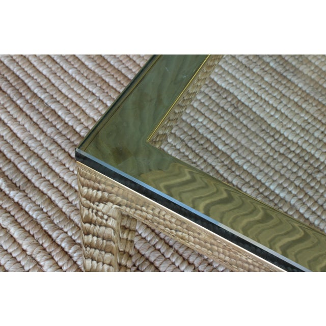 Brass Plated Coffee Table by James Howell, 1970s, USA For Sale In Los Angeles - Image 6 of 11