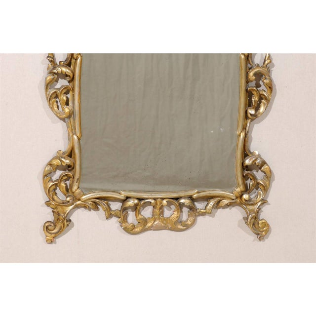 Early 20th Century Early 20th Century Italian Gold and Silver Gilt Mirror For Sale - Image 5 of 11