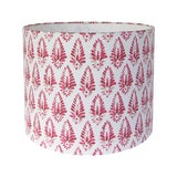 Image of Red Patterned Lamp Shade For Sale