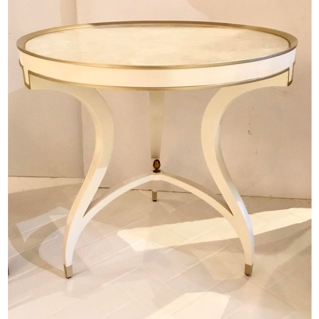2010s Caracole Modern White the Ladies Side Table Prototype For Sale - Image 5 of 5