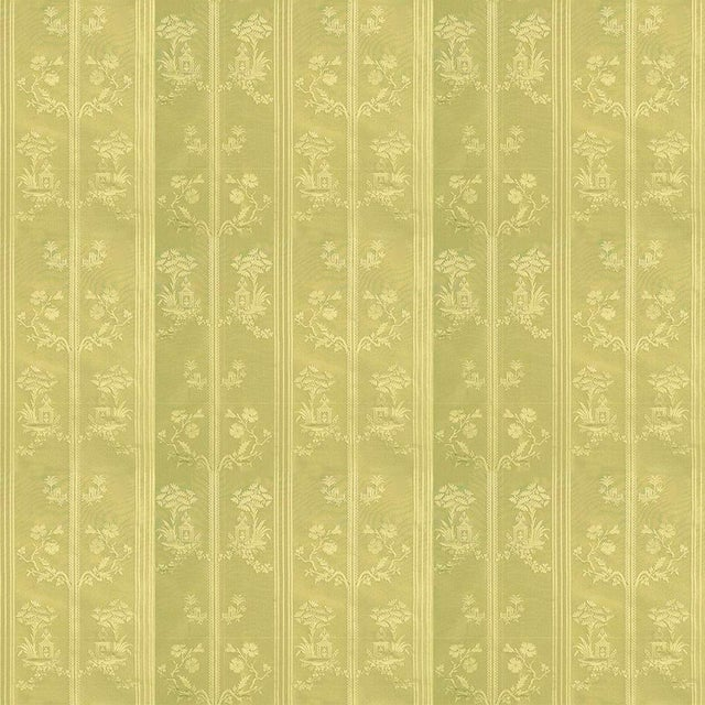 Chinoiserie Sample, Suzanne Tucker Home Pagoda Silk Fabric in Citrine For Sale - Image 3 of 4
