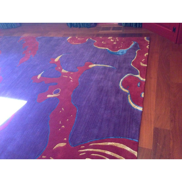 "Asian Shivhon ""Ryu"" Dragon Motif Hand-Tufted Area Carpet - 10.5 x 15' For Sale - Image 3 of 4"