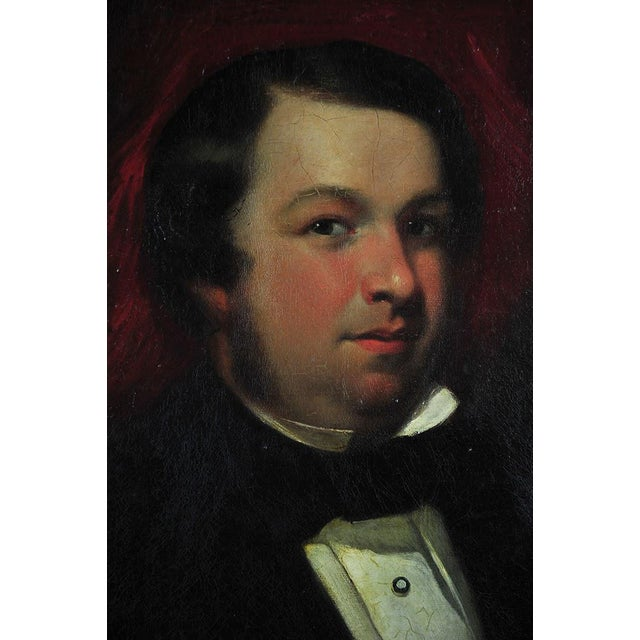 """Traditional 19th Century Portrait of an English Gentleman in Ornate Gilt Frame - 28.25"""" x 36"""" For Sale - Image 3 of 11"""