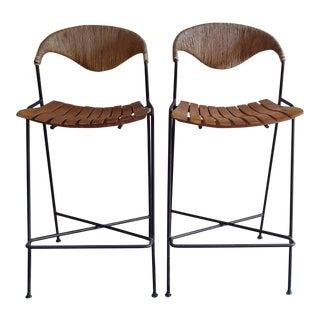 Arthur Umanoff for Raymor Mid Century Modern Bar Stools - a Pair For Sale
