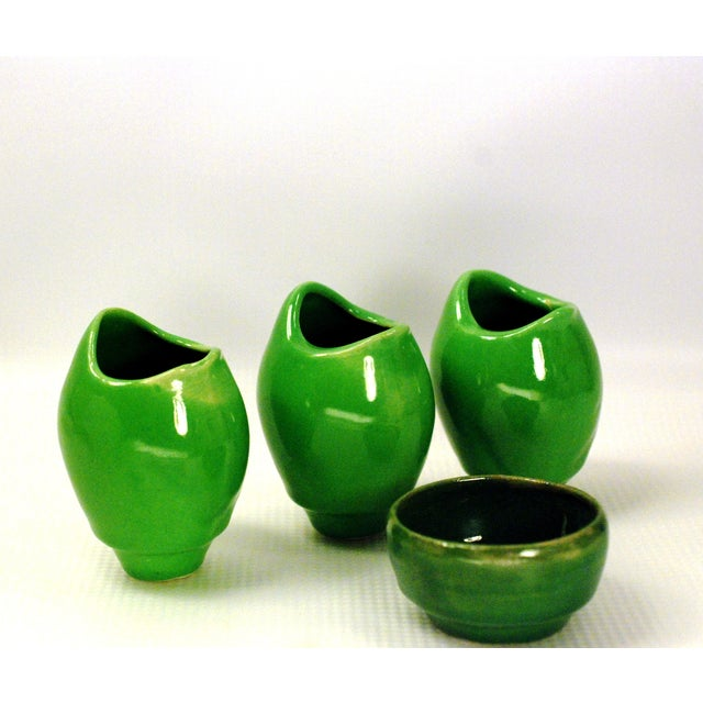 Atomic Green Studio Art Pottery - 11 Pieces - Image 4 of 10