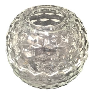 Vintage Fostoria Clear Candle Holder For Sale